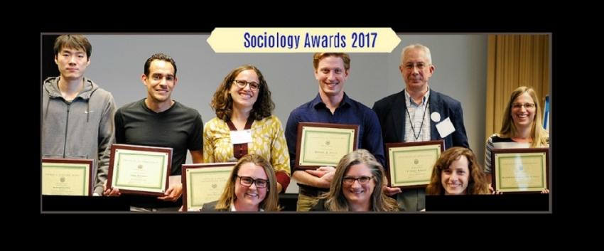 Sociology Awards 2017 Recipients
