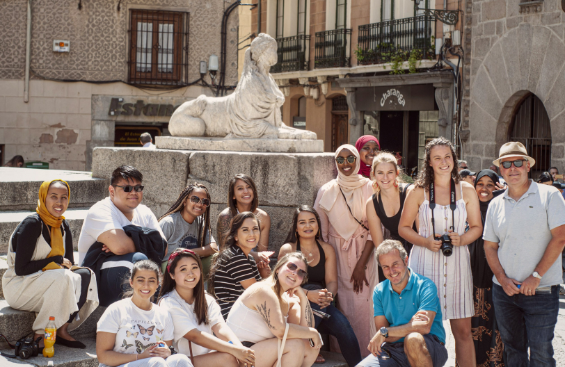 Students in Segovia, August 2019