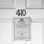 eviction notice on a door