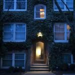 doorway of an apartment building in Seattle's Capitol Hill neighborhood