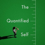 Book cover that shows a person standing on a field next to a large measurement ruler: The Quantified Self by Debora Lupton