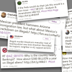 Twitter immigration collage