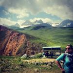 Michelle O'Brien in Tajikistan
