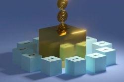 graphic of a large golden box which coins are dropping into. Around the large golden box is a cluster of smaller blue boxes, which are receiving no coins.